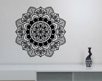 Mandala Wall Decal Vinyl Sticker Namaste Art Indian Ornament Decorations for Home Housewares Living Yoga Room Bedroom Decor mnd1