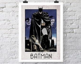 Batman jaar één Print Wall Art kleur poster
