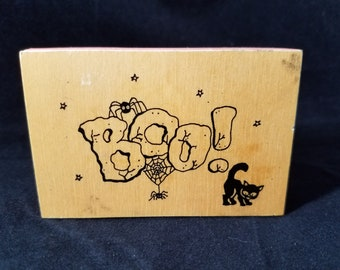 Boo Rubber Stamps - used