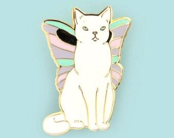 Catterfly Enamel Pin