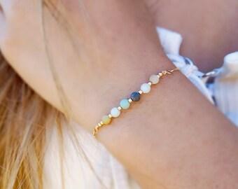 Amazonite Gemstone Bead 14k Gold Fill Bracelet