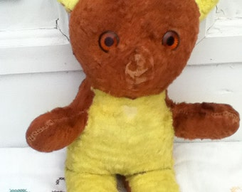 Antique knickerbocker teddy bear yellow & brown