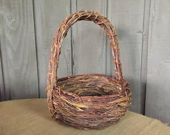 Vintage rustic basket/ wedding basket/ large rustic wedding basket/ grapevine basket/ woodland basket/ rustic wedding/ woodland wedding