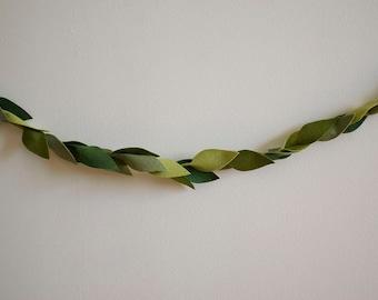 Green Leaf Garland - Felt - Multiple Sizes Available