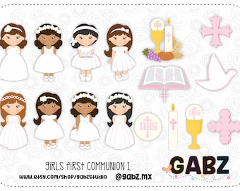 Girls First Communion 1, Girls, Communion, Clipart, Gabz