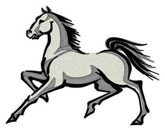 Stallion Horse Embroidery File