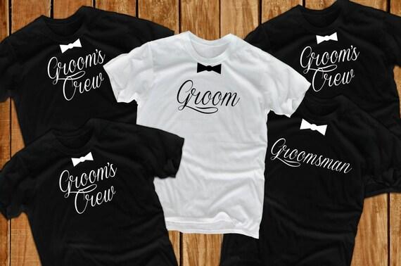 Bachelor Party Shirts (5) Groomsmen Shirts xc699YU