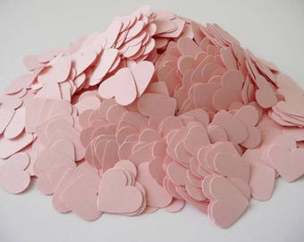 Paper hearts 1000 die cut hearts wedding confetti hearts pink hearts