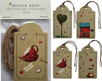 Set of 8 assorted gift tags