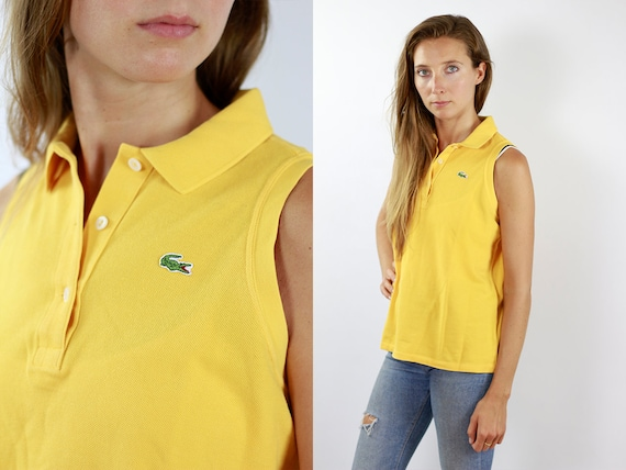 LACOSTE Poloshirt Yellow Lacoste Polo Shirt Lacoste Yellow Polo Shirt Lacoste Vintage Top Yellow Lacoste Top Yellow Lacoste Shirt Poloshirt