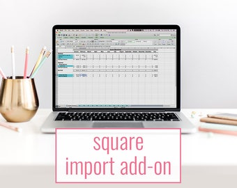 Square import add on - bookkeeping template for Square sellers - accounting spreadsheet