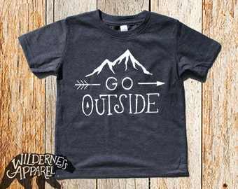 NEW ~ Go Outside ~ Kids Toddler Tee ~ Available In 4 Vintage Colors