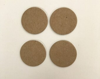 "50 - 1"" Chipboard Circles, Die cut circles,Game board pieces, Bare chipboard, DIY Craft project,"
