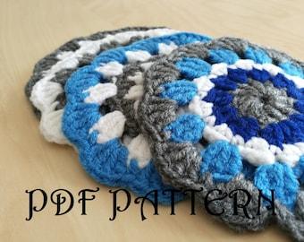 Crochet Blue Doily Coasters Blue Seas