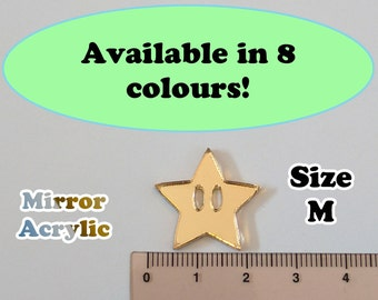 Star Laser Cut Mirror Acrylic Cabochons Supplies