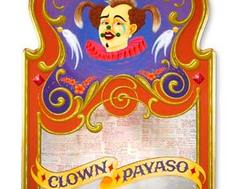 Clown Payaso - Poster - Sign painting, fileteado, clown