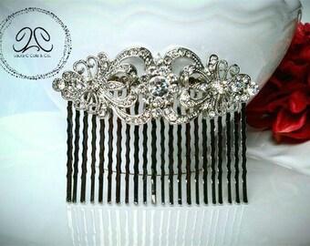 Chloe- bridal hair comb, crystal hair comb, rhinestone hair comb, art deco hair comb, crystal hair piece, crystal bridal hair comb