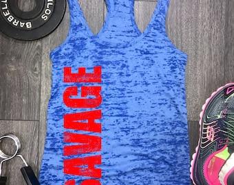 savage burnout tank, savage workout tank, savage gym tank, workout motivation, savage tank, gym motivation, workout tank womens, fitness top