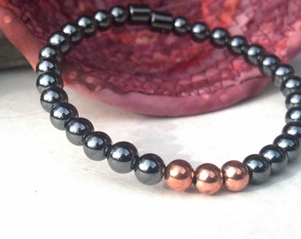 2 Corinthians Trinity Solid Copper & Black Hematite Magnetic Therapy Bracelet Super High Power Wellness Health FREE gift card