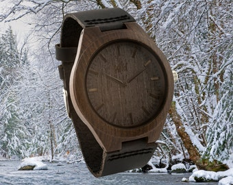 FREE Engraving, Wood Watch, Fathers Day Gift, Boyfriend Gift, Men watch, Groomsmen gift, Husband Gift, Anniversary Gift, Wooden watch, DR219