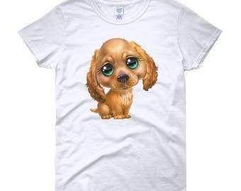 Green Eyed Pup Women's short sleeve t-shirt
