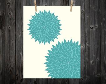 Abstract Green Bursts, Triangle, Green, Green Art, Green Print, Green Artwork, Green Poster, Abstract Print, Abstract  Art, Teal, Art