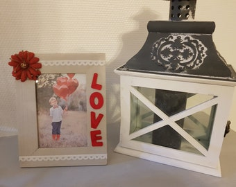 """Wooden picture frame """"LOVE"""""""