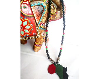 Rbg beaded Africa necklace