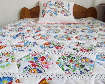 Patchwork bedcover Polish folk