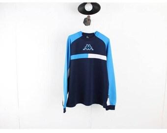 Vintage KAPPA Sweatshirt/Vintage long sleeve t-shirts/Vintage tee/old school/Vtg Sportswear/Vintgae Activewear/D27 Men Size M ,L