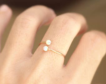 Opal Stacking Ring, Slim Ring, Turquoise gold ring ,Statement Ring, Opal Silver Ring, Opal Sterling Silver Ring,Opal Rose Gold Ring