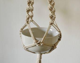 Macramé Hanging Vase
