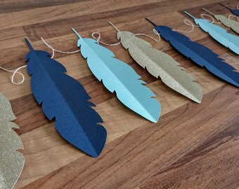 Feather Bunting, Feather Garland, Nursery Decor, Bohemian bunting, Boho Garland, Boho Feathers, Aztec Bunting,  Baby Shower, Kids room decor