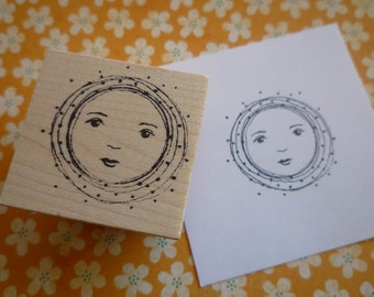 New Moon | Wood Mounted Rubber Stamp | KP5009F