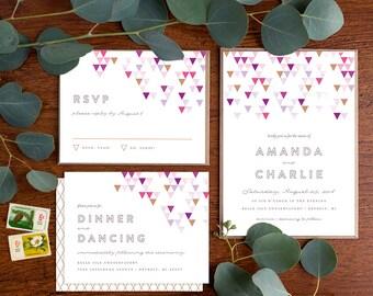 Wedding Invitation Suite Sample - Mod