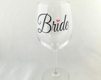 Bride Wine Glass, Bride Gift, Bride Wine Glass, Bridal Shower Gift, Engagement Gift, Wedding Wine Glass, Bride, Bride Glass