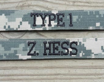 Army ACU  Custom Name Tapes Military Name Tape or Name Patch Embroidered