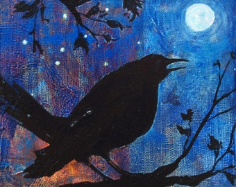 Blackbird Singing Art Reproduction