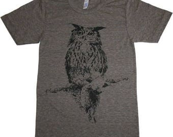 OWL Illustration T-Shirt Made in USA