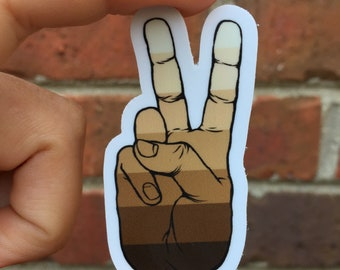 Peace Neutral Itty Bitty Decal