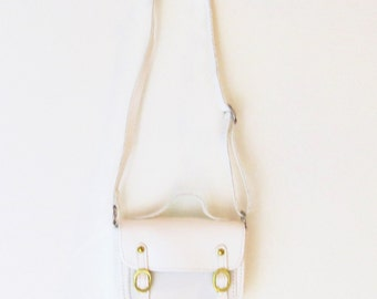 Doll Accessories Purse Faux-leather Bag - Fits American Girl - Cream Purse for 18 inch Dolls and more