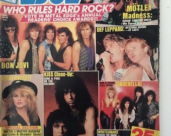 Metal Edge magazine volume 32. No 6