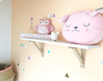 Triangle Nursery Wall Stickers/Vinyl Decals/Removable Wall Stickers/Fake Wallpaper