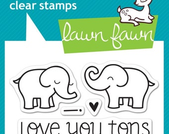 Lawn Fawn Clear Photopolymer Rubber Stamp set - Love You Tons