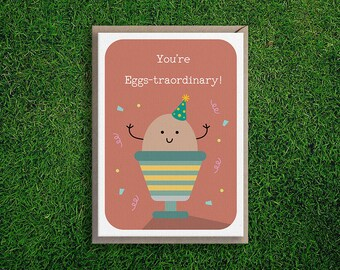 Greeting Cards | Congratulations, Encouragement, Thank You, You're Extraordinary Cute & Quirky Pun Card