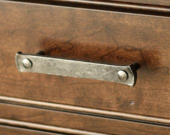 "Drawer Handle - 5"" Lithops Tenon Pull - Wrought Iron Drawer Handle"