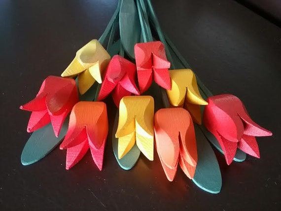 "Bouquet of Wooden Tulips ""AnnaE"""