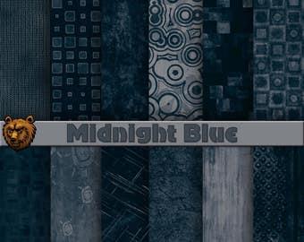 dark blue digital paper, dark blue background, scrapbook paper