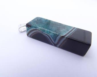 tinted rectangular shaped TOGA 773 Agate pendant