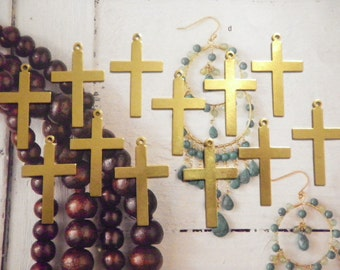 12 Brass Crosses